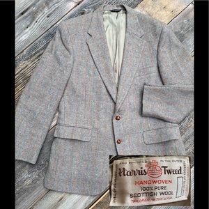 Vintage Harris Tweed Scottish 100% Wool Blazer